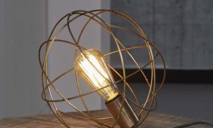 FURBO Rund trådlampe, antik bronze