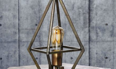 FURBO Bordlampe, industri design, antik bronze