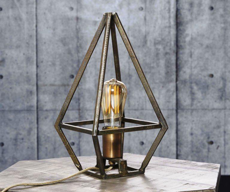 FURBO Bordlampe, industri design, antik bronze