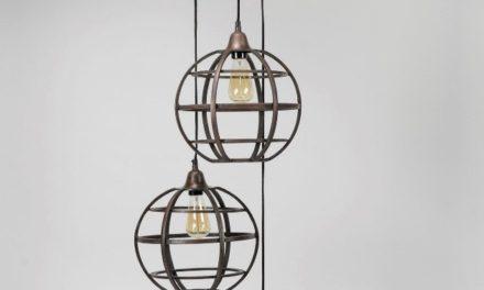 FURBO 3 loftslamper, antik kobber
