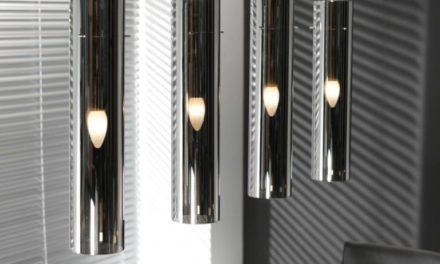 FURBO Loftslampe, forkromet glas