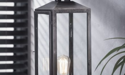 FURBO Bordlampe, gammel sølv finish