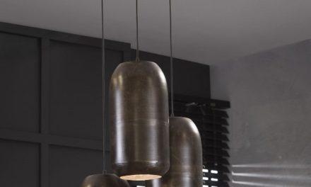 FURBO Loftslampe, 3 lamper, antik kobber finish
