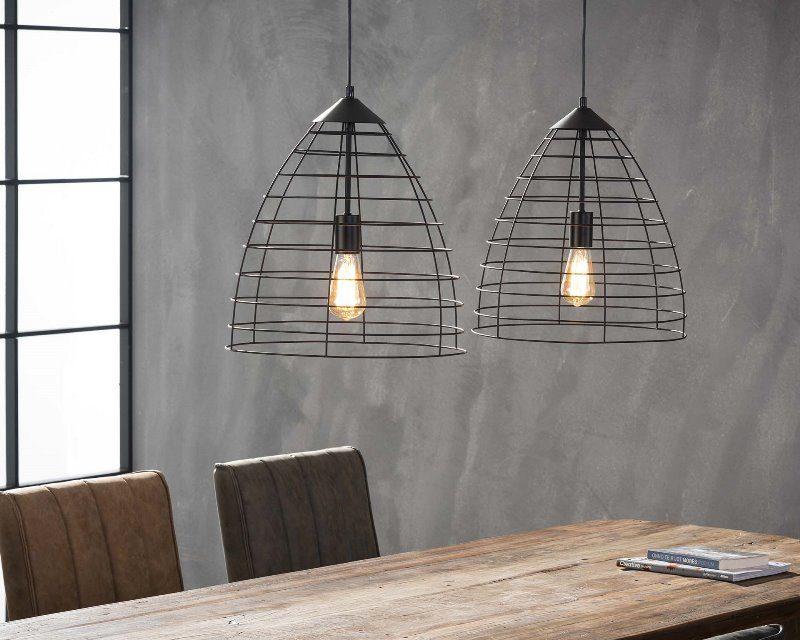 FURBO Loftslampe, industri design, sort metal, ø 40 cm