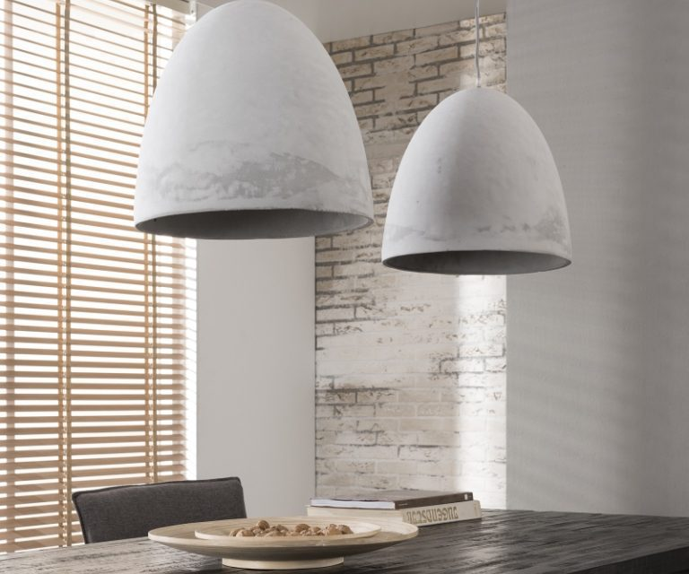FURBO Loftslampe, beton, ø 38 cm