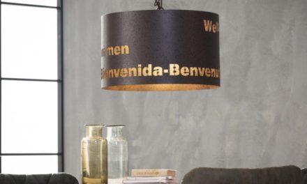 FURBO Loftslampe, antik kobber
