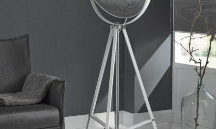FURBO Gulvlampe, hvid metal
