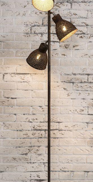 FURBO Gulvlampe, patineret brunt jern, 174 cm
