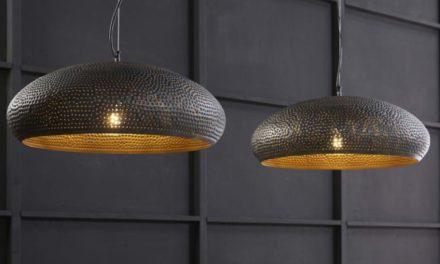 FURBO Loftslampe, 2 ø 50 cm skærme, sort-brun metal