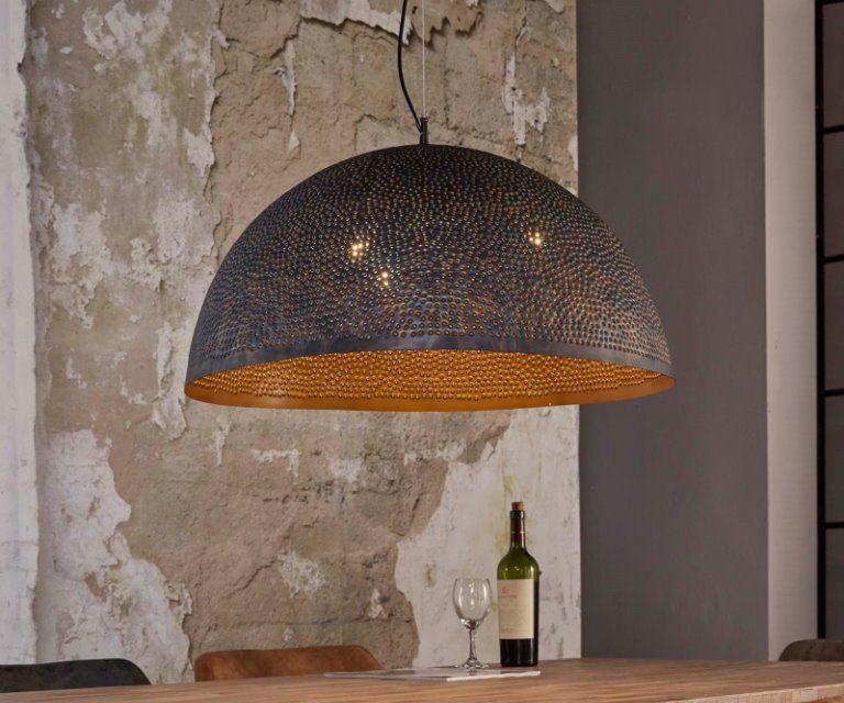 FURBO Loftslampe, ø 70 cm, sort-brun metal