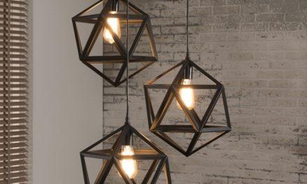 Furbo loftslampe i industri design i flot sort metal