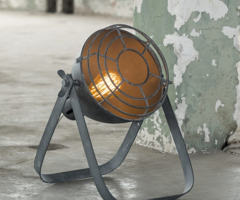 FURBO Bordlampe, vintage, beton look