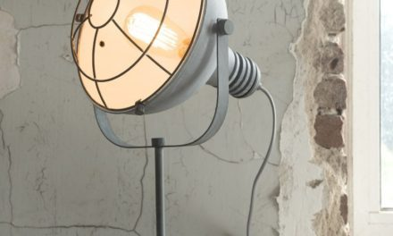 FURBO Bordlampe, beton farvet metal