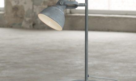 FURBO Bordlampe, beton farvet metal, beton fod