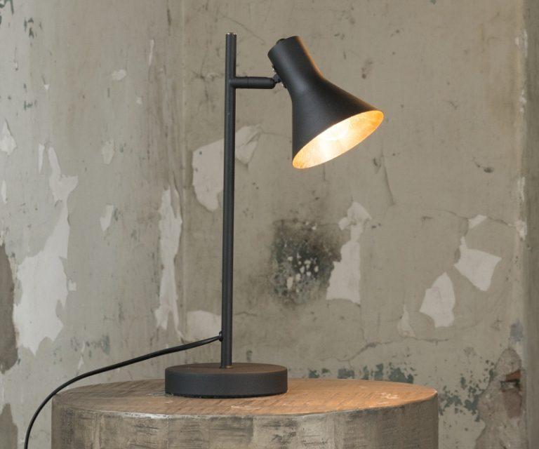 FURBO Arkitekt bordlampe, sort med guld