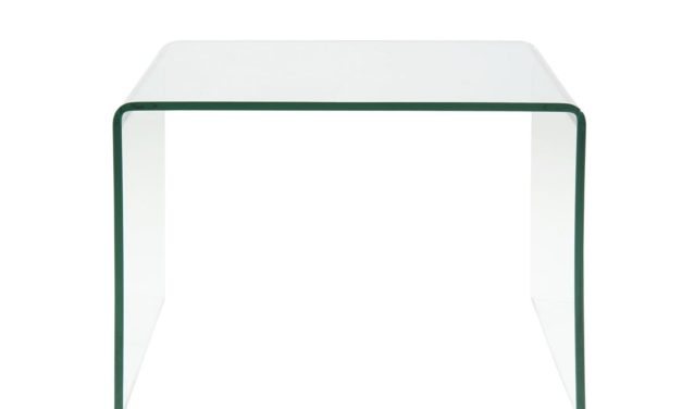 Thilde Hjørnebord i Glas