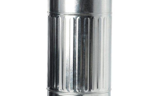House Doctor Zink affaldsspand i flot zinkgalvaniseret jern