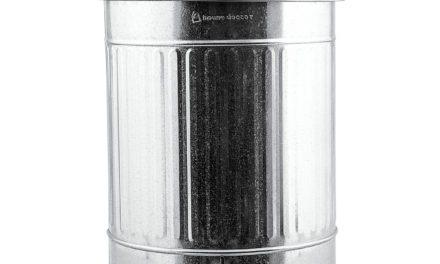 Nydelig Zink affaldsspand i galvaniseret stål fra det kendte mærke House Doctor