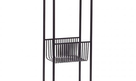 HÜBSCH lille konsolbord m. hylde, sort metal