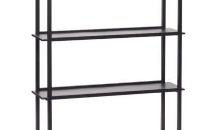 HÜBSCH vægreol i sort metal