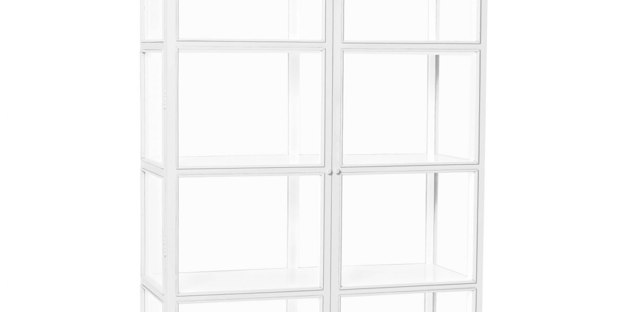 HÜBSCH vitrineskab m. 2 låger, hvid