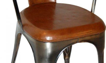 TRADEMARK LIVING Living Spisebordsstol – læder og shiny