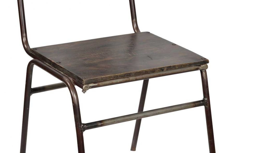 Træ Og Jern Spisebordsstol fra Trademark Living til din bolig