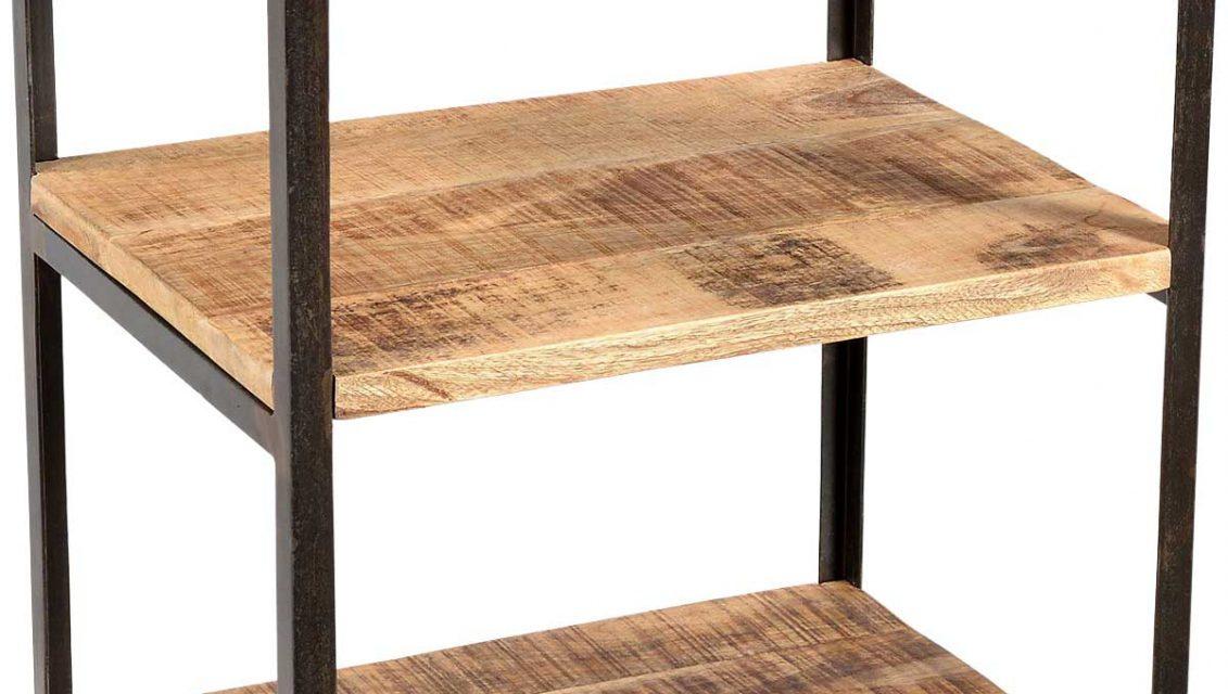 TRADEMARK LIVING Råt sidebord i jern og træ