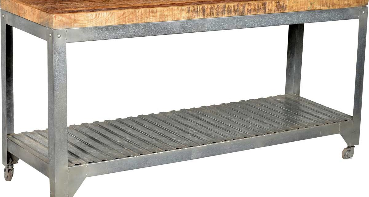 TRADEMARK LIVING Galvaniseret rullebord med råstyrke