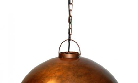 TRADEMARK LIVING Loftpendel i fabriksstil – kobber
