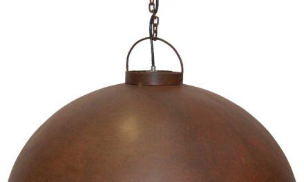 TRADEMARK LIVING Loftpendel i fabriksstil – rusty finish