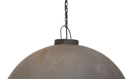 TRADEMARK LIVING Loftpendel i fabriksstil – zink