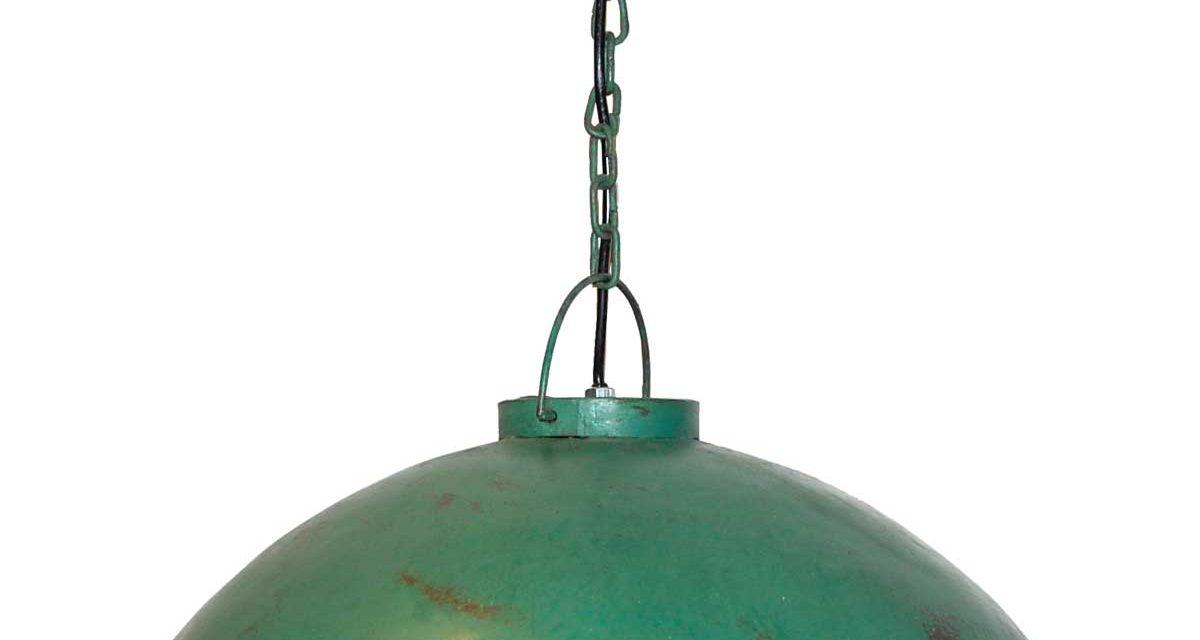 TRADEMARK LIVING Loftpendel i fabriksstil – lysegrøn