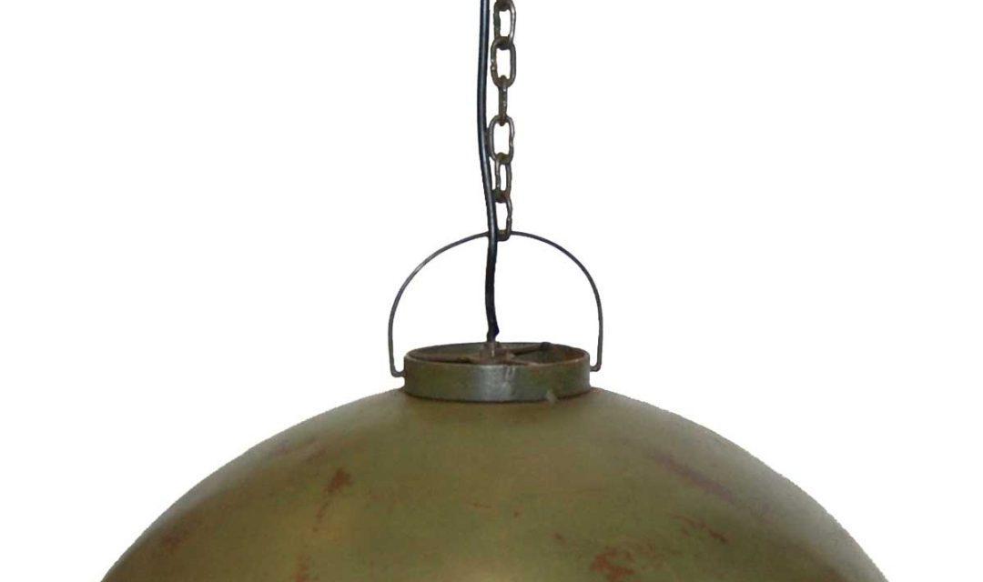 TRADEMARK LIVING Loftpendel i fabriksstil – flaskegrøn