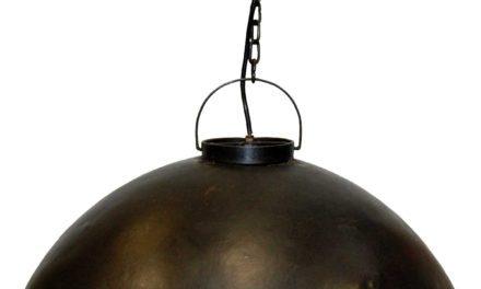 TRADEMARK LIVING Loftpendel i fabriksstil – burned wax jern – stor