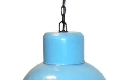 TRADEMARK LIVING Loftlampe med skønt udtryk – lyseblå