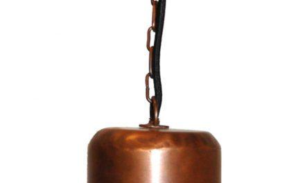 TRADEMARK LIVING Loftlampe med enkelt udtryk – kobber