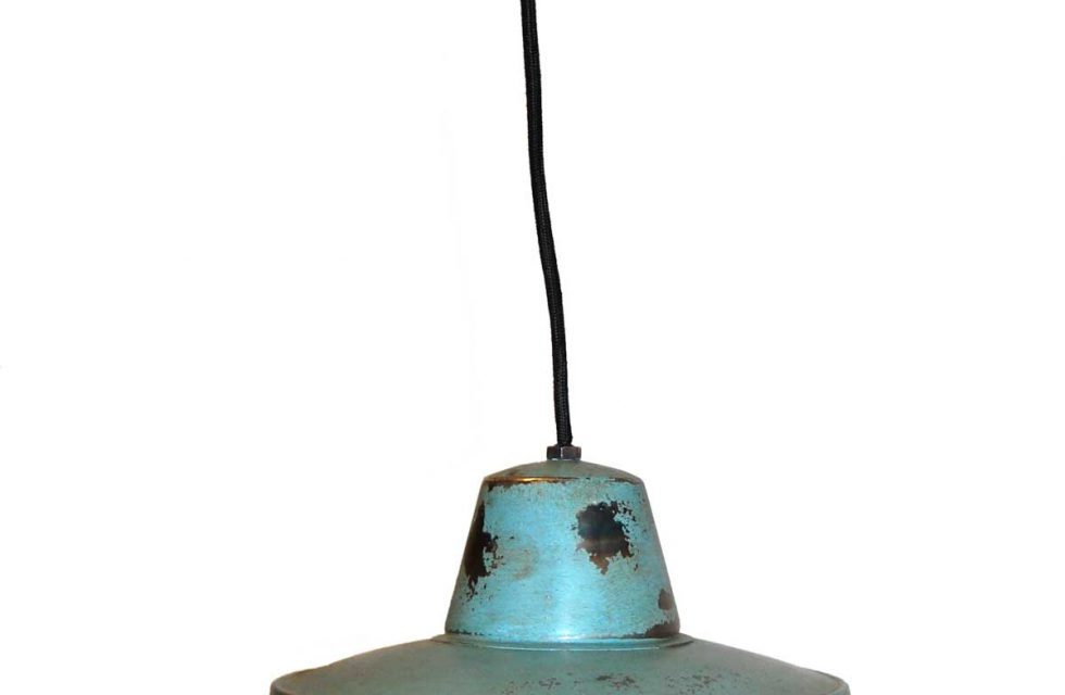 TRADEMARK LIVING Loftlampe med enkelt udtryk – blå