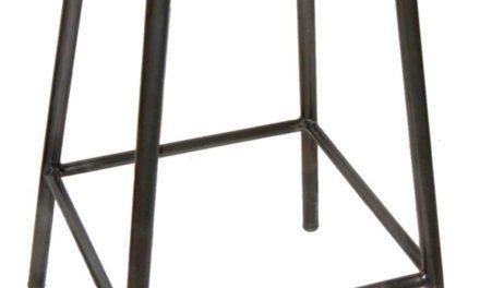 TRADEMARK LIVING Jernskammel med gummisæde – høj