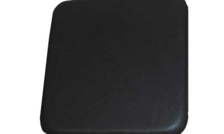 TRADEMARK LIVING Sædehynde i sort læder Passer til høj skammel