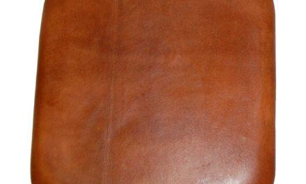 TRADEMARK LIVING Sædehynde i brunt læder til barstol