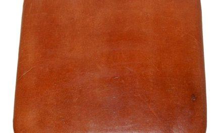TRADEMARK LIVING Sædehynde i brunt læder – passer til høj skammel