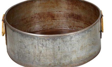 TRADEMARK LIVING Gammel vintage balje med råstyrke – sæt á 2