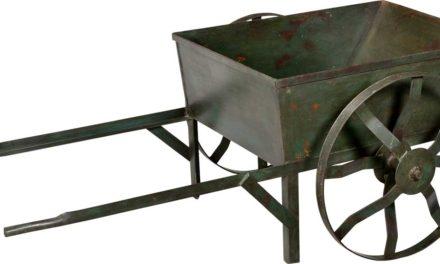 TRADEMARK LIVING Trækvogn i jern – mørkgrøn