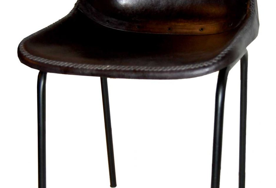 TRADEMARK LIVING – spisebordsstol m. læder, sort
