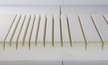 MANIS-H Skummadras – ergonomisk, inkl. vaskbart hvidt betræk (flere størrelser) 90×180