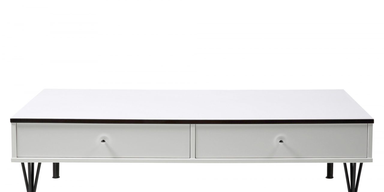 Pippolo Sofabord/TV-bord, Hvid