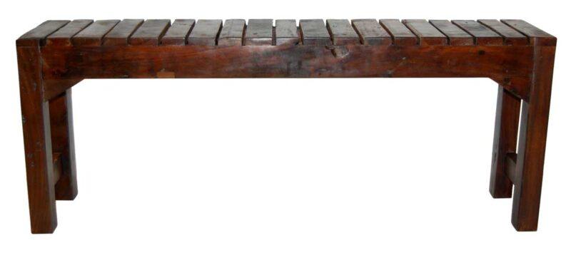 Trademark Living gammel bænk med lammeller i flot træ