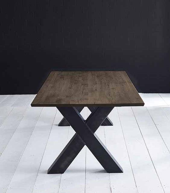 Concept 4 You Plankebord – Schweizerkant med Freja-ben, m. udtræk 3 cm 240 x 100 cm 02 = smoked