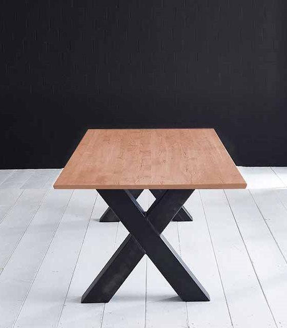 Concept 4 You Plankebord – Schweizerkant med Freja-ben, m. udtræk 3 cm 200 x 100 cm 03 = white wash